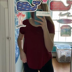 red hollister top